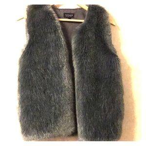 Topshop Plush Faux Fur Vest